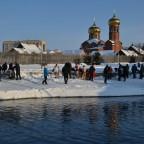 Крещение у Свято-Вознесенского собора