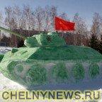 Коммунисты установили танк в парке Победы