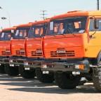 Склад автомобилей КАМАЗ