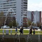 Фонтан на площади Азатнык