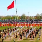 День Победы на стадионе Строитель