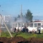 Загорелся трамвай