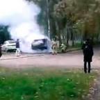 Сгорел автомобиль BMW X5